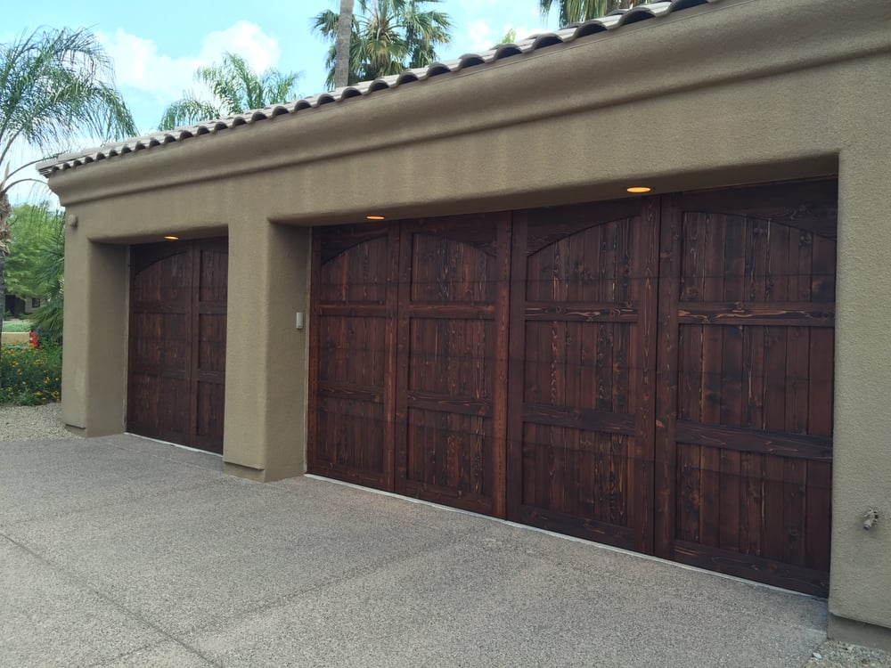 Wood Garage Doors Cedar Overlay Yelp