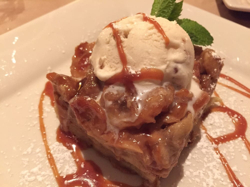 Caramelized Banana Bread Pudding with Pecan ice cream - Yelp