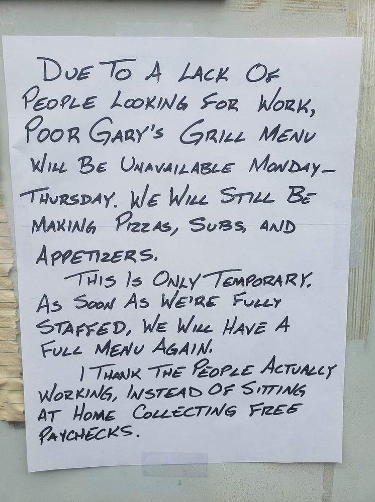 Poor Gary's Pizza & Subs: 215 Main St, Biwabik, MN