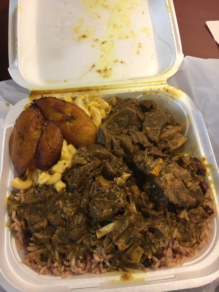 Food from J & F Caribbean Delight