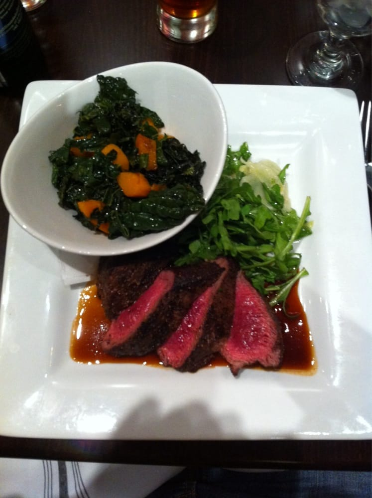 Steak and greens so tender yelp for Humboldt farm fish wine