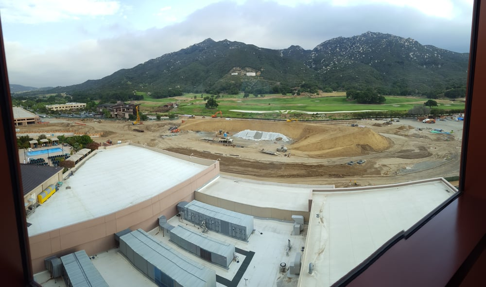 Our View Of The Golf Course Construction Still Nice We Were Barely In The Room Anyways Yelp