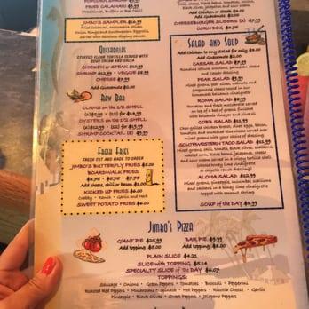 Jimbo S Restaurant Menu