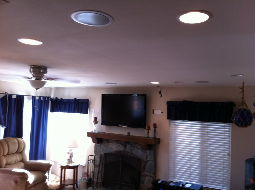 Plasma Can Lights And Ceiling Speakers Installation