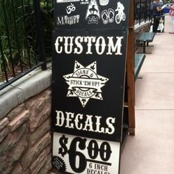 STICK EM UP Signs  Decals LTD Signmaking  Manitou Ave - Custom vinyl decals colorado springs