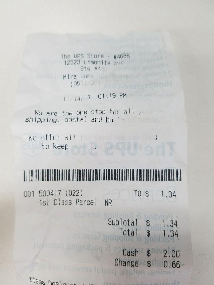 The UPS Store: 12523 Limonite Ave, Mira Loma, CA