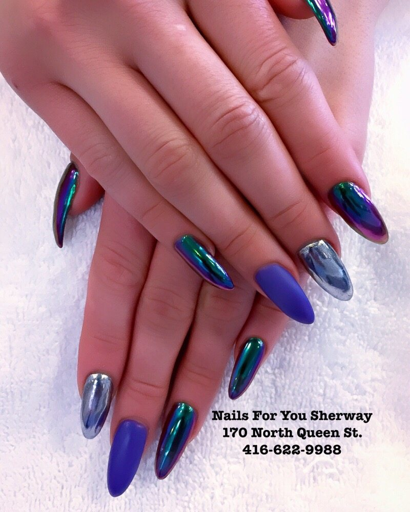 Different Chrome colours vs matte finish on a Bio gel full set. - Yelp