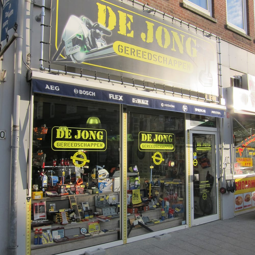 de jong gereedschappen magasins de bricolage benthuizerstraat 22 rotterdam zuid holland. Black Bedroom Furniture Sets. Home Design Ideas