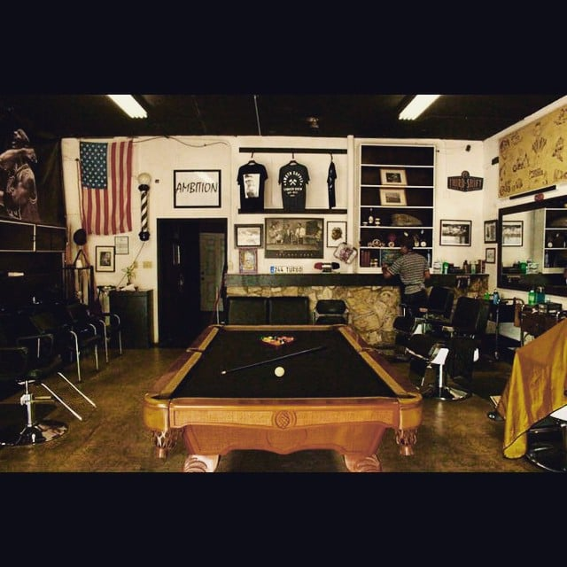 Barber Shop With Pool Table For Customers Yelp - Fullerton pool table