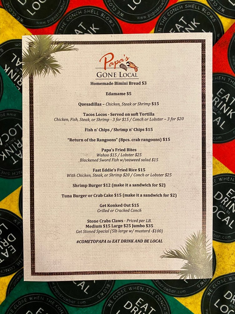Papa's Raw Bar: 4610 N Federal Hwy, Lighthouse Point, FL