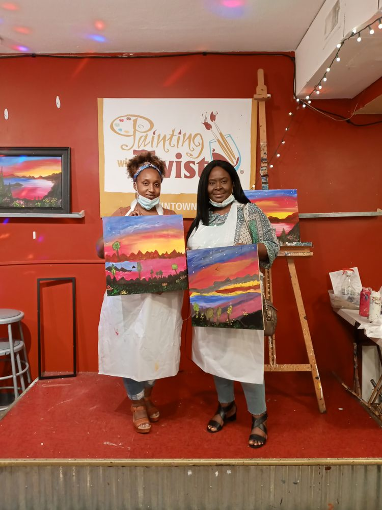 Social Spots from Painting with a Twist