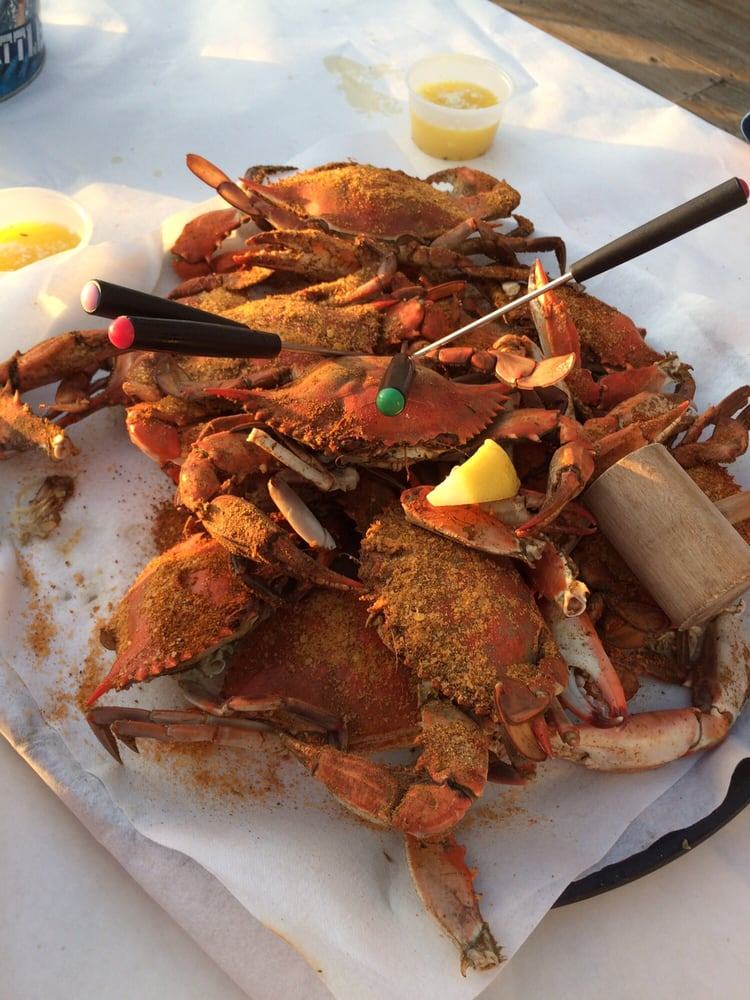 Nicely seasoned dozen blue crabs yelp for Old florida fish house menu