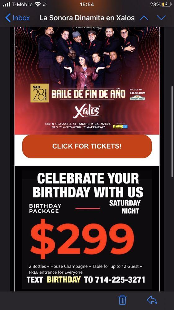 Xalos Nightclub: 480 N Glassell St, Anaheim, CA