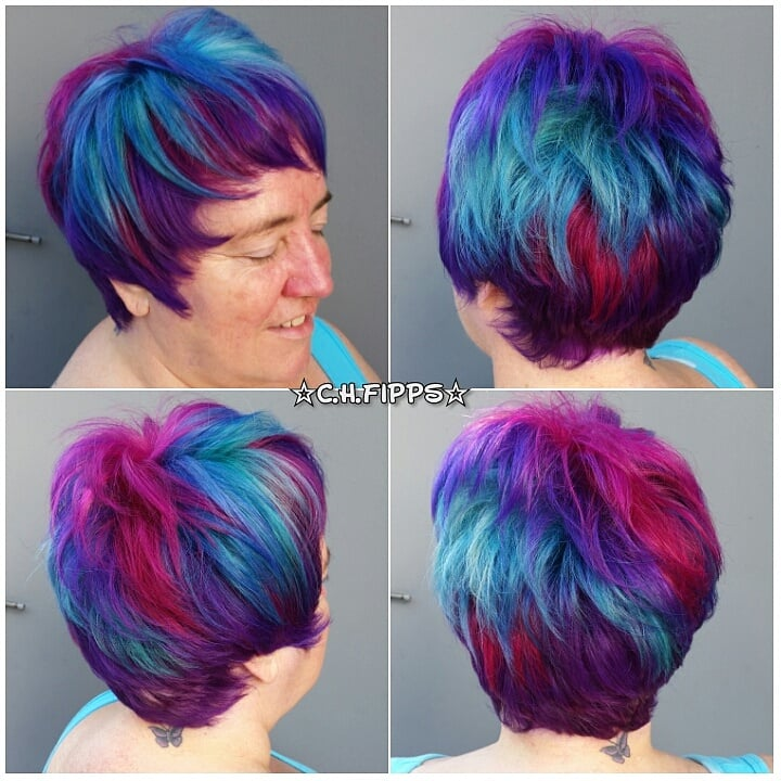 Pravana Vivids And Neons Hair Color With Pixie Haircut Yelp