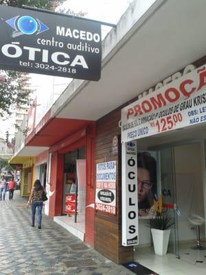 9dc2d5789a470 Ótica e Centro Auditivo Macedo - Óticas - Rua Alfredo Bufren, 255 ...