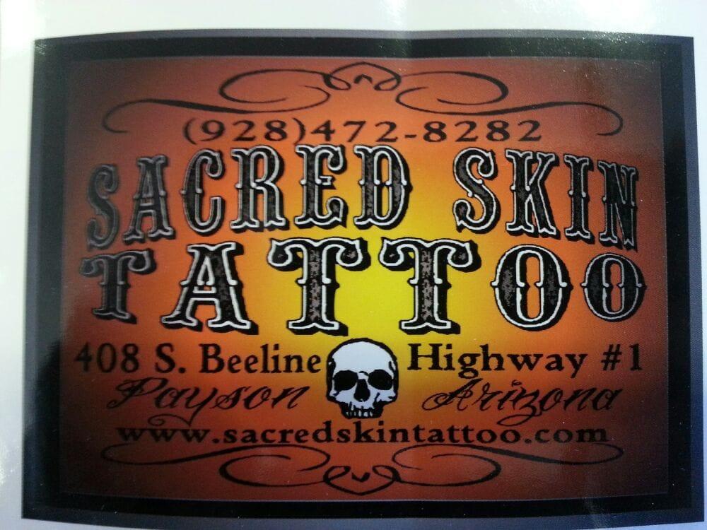 Sacred Skin Tattoo: 408 S Beeline Hwy, Payson, AZ
