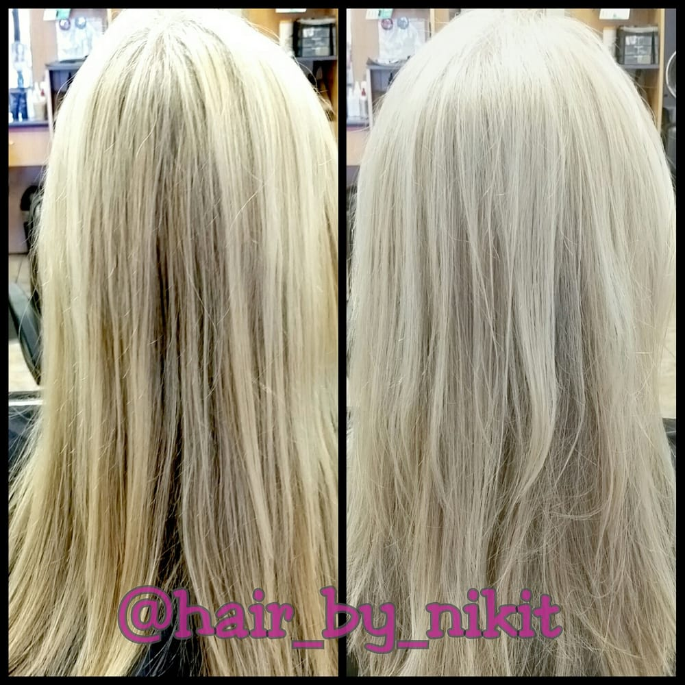 Before And After Accent Highlights Toner Haircut Style By Niki