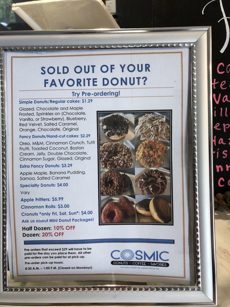 Cosmic Donuts: 10468 Roosevelt Blvd, St. Petersburg, FL