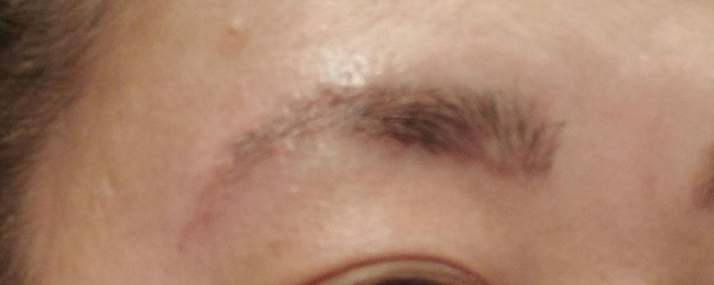 This Is My Eyebrow Threading And Tinting Its Literally Holes And