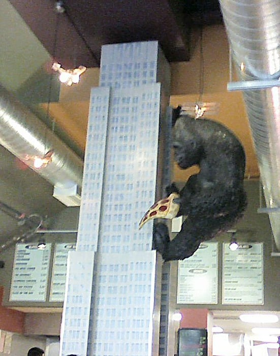 King Kong Climbing The Empire State Building Inside With A