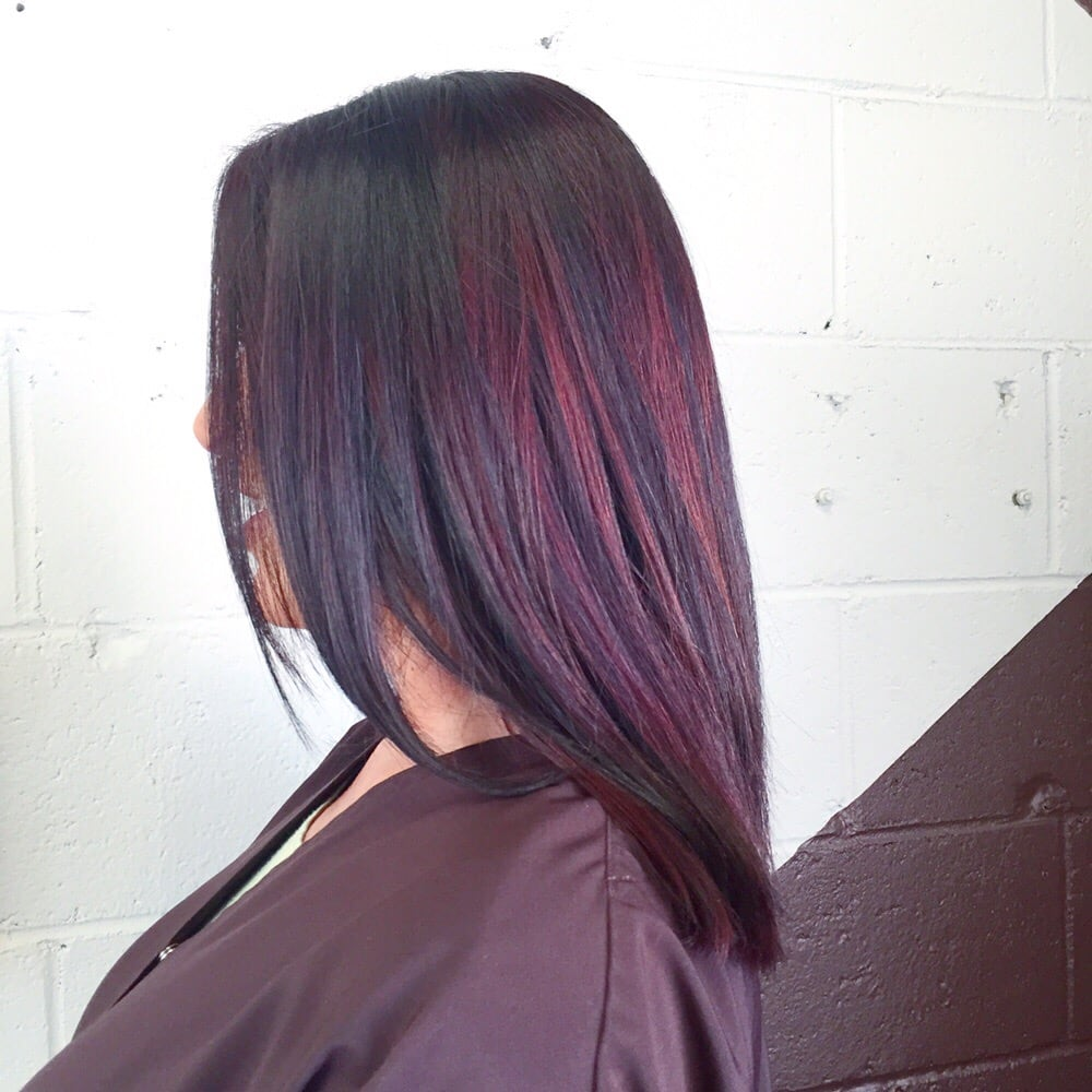 Eggplant Purple With Red Highlights For Dimension Yelp