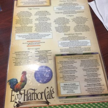 Egg Harbor Cafe Buckhead Menu