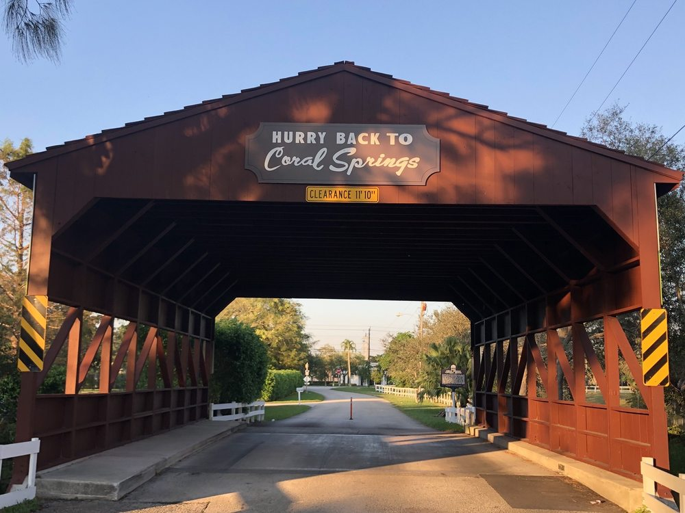 Coral Springs Covered Bridge: 4550 NW 95 Ave, Coral Springs, FL