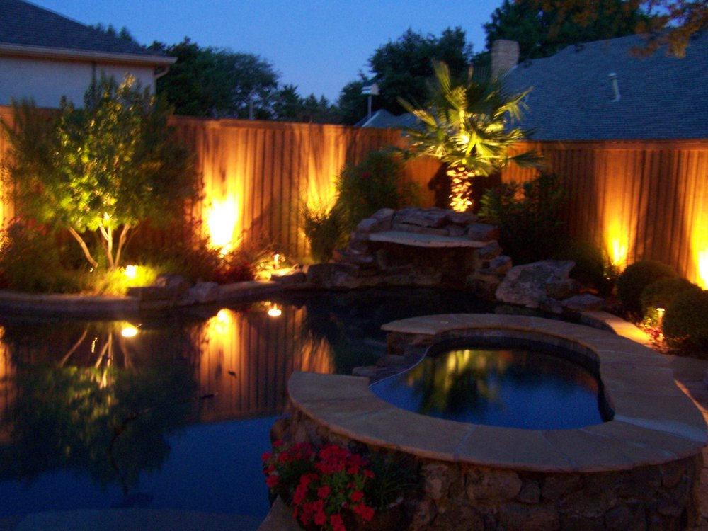 Photo of Nite FX Lighting - Plano, TX, United States. Backyard LED Landscape - Backyard LED Landscape Lighting. Dallas, TX Installation - Yelp