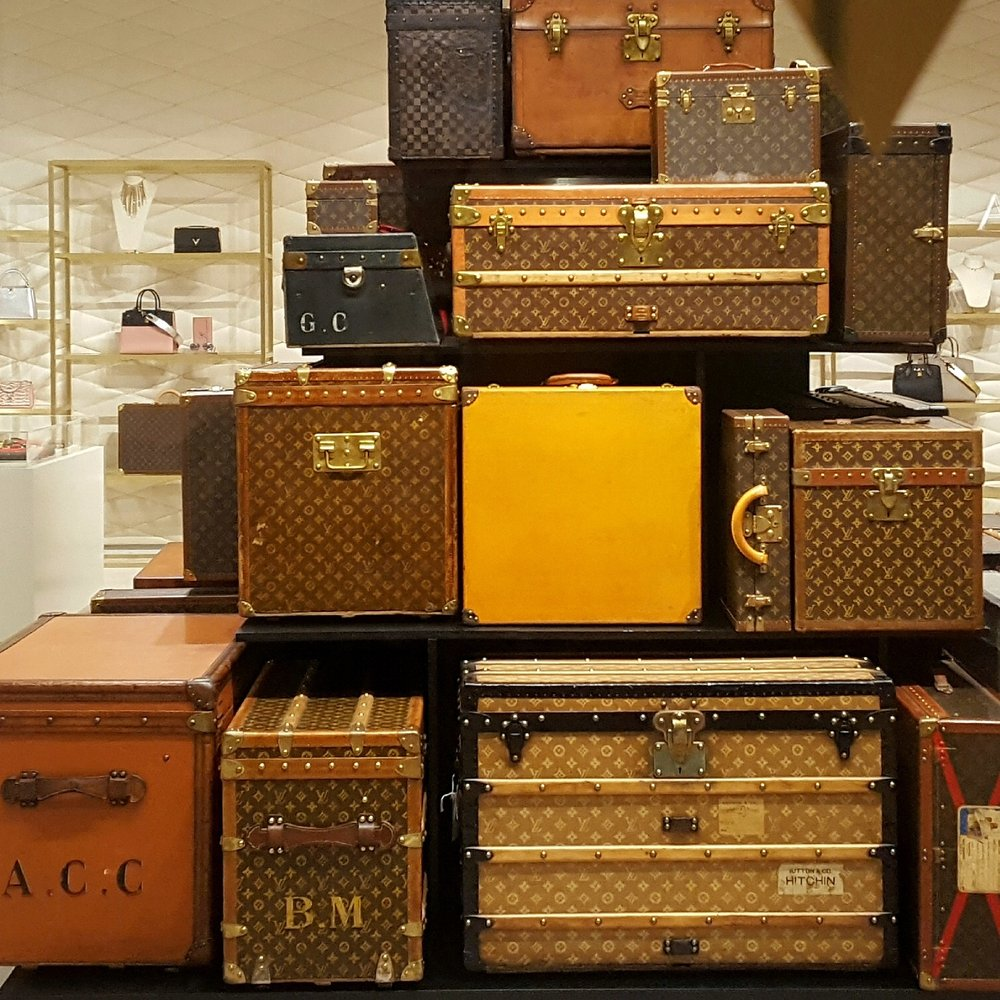 Beautiful stack of vintage LV luggage trunks. Photo Oct 2017 - Yelp c6a294eeb7ca0