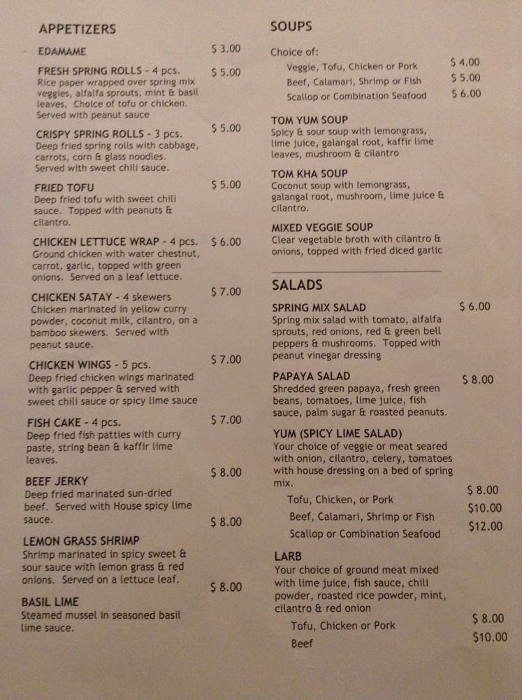 Turmeric thai menu page 1 2 yelp for W kitchen verbier menu