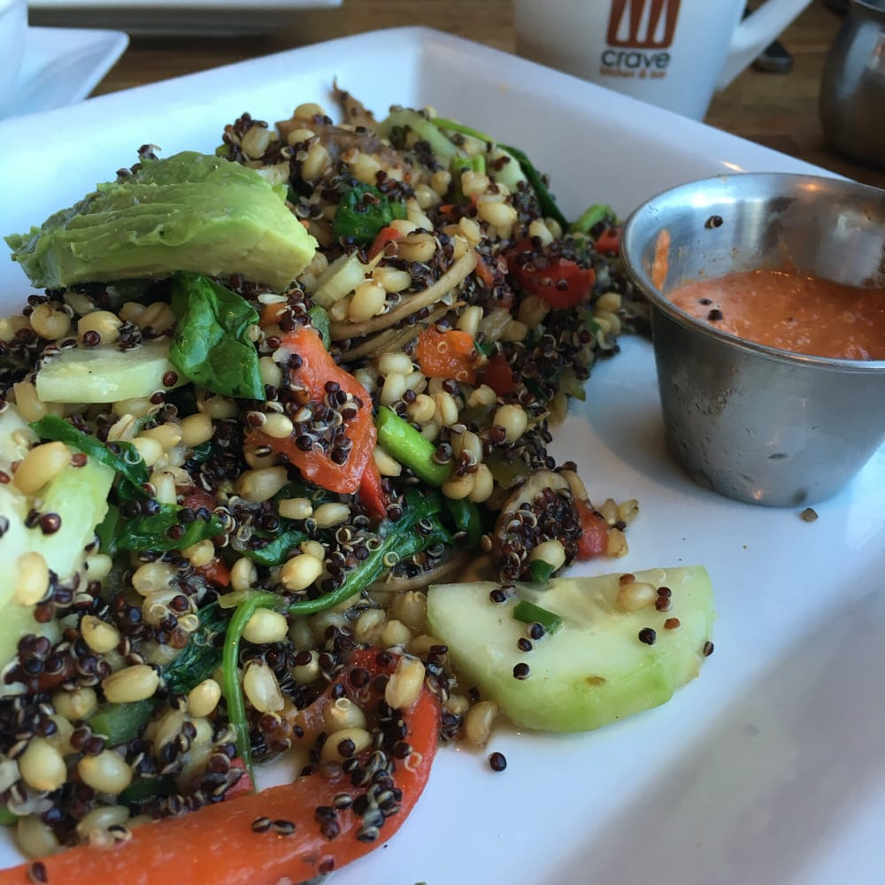 ancient grains bowl. one of the new menu items. think it might be