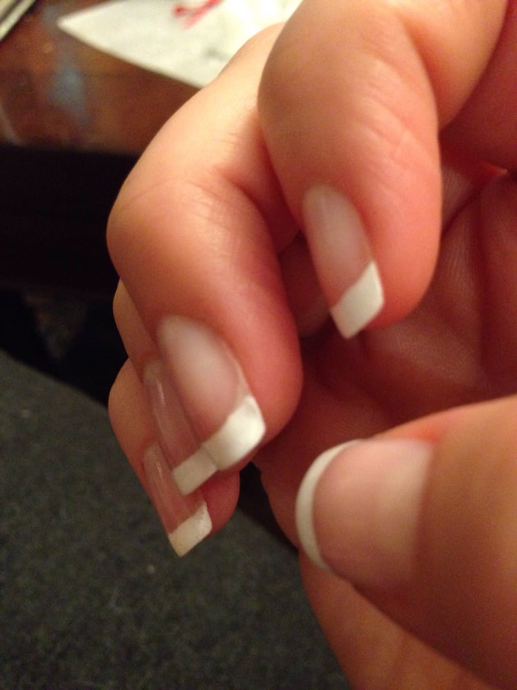 You can still see the real white part of my nail beneath cause the ...