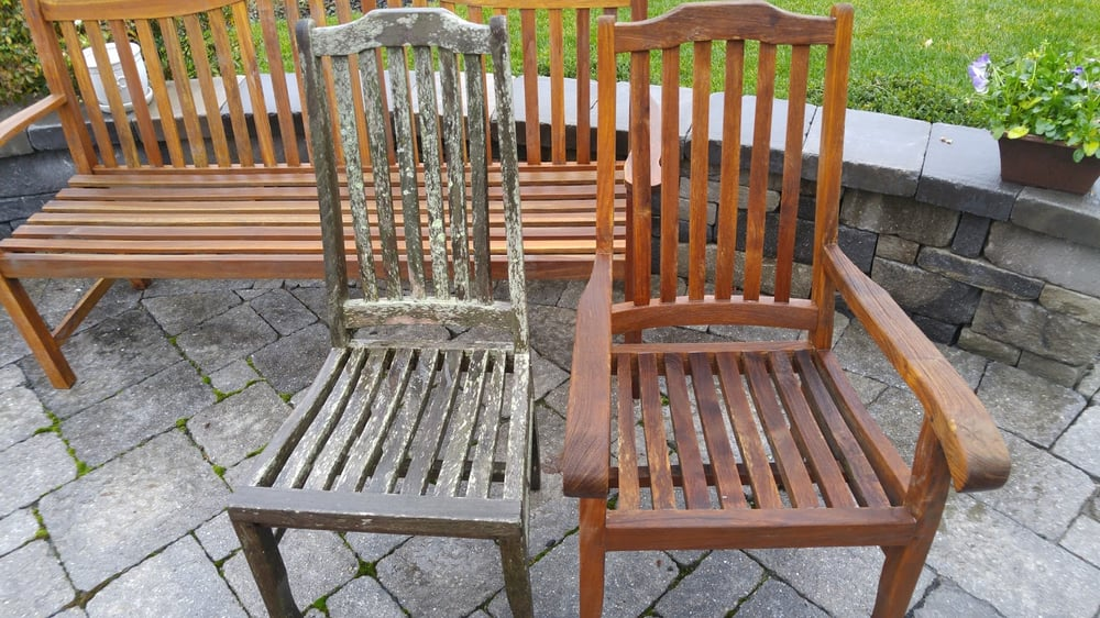 Tropical hardwood outdoor furniture can look almost new for Outdoor furniture richmond va