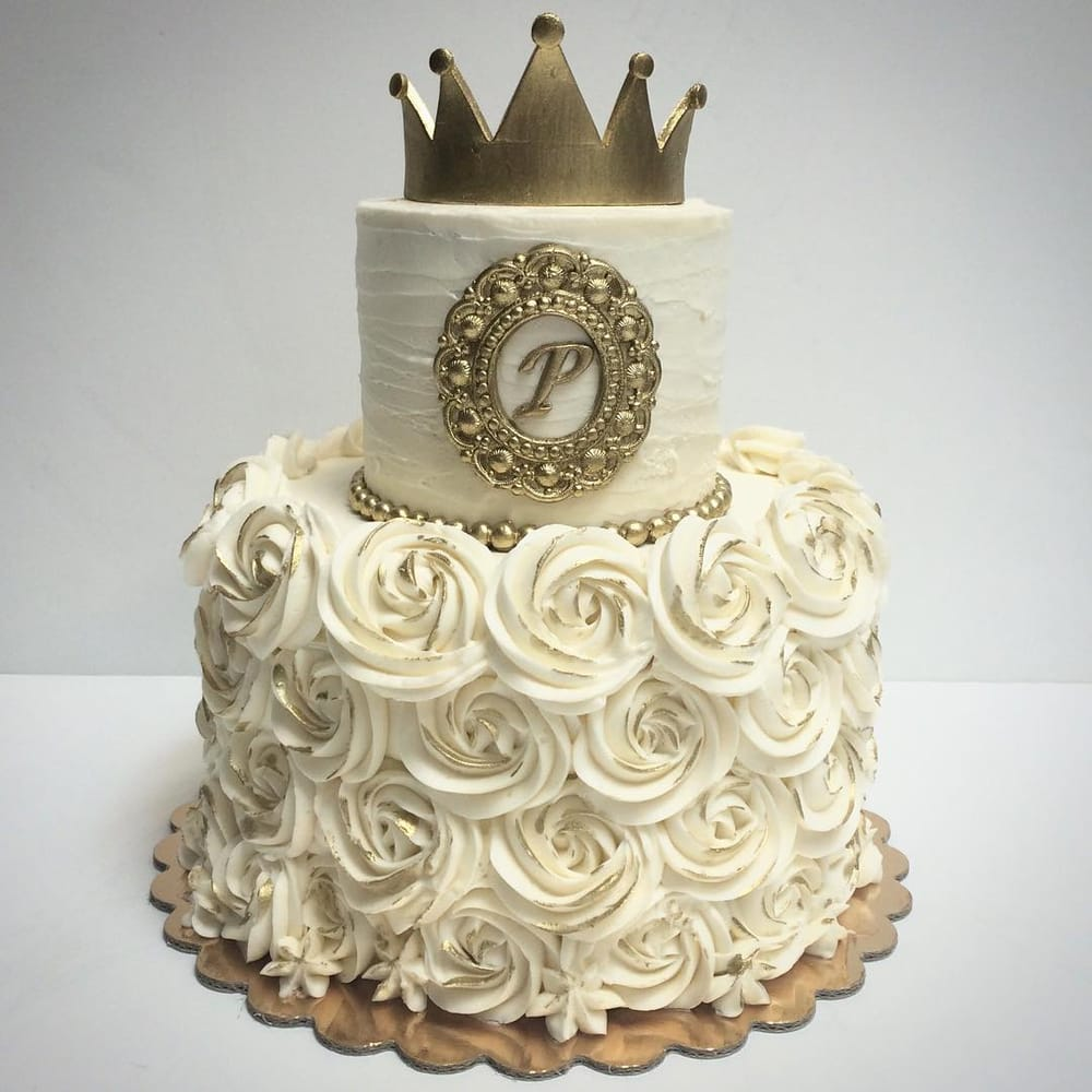Little Prince Cake With White Buttercream Flowers