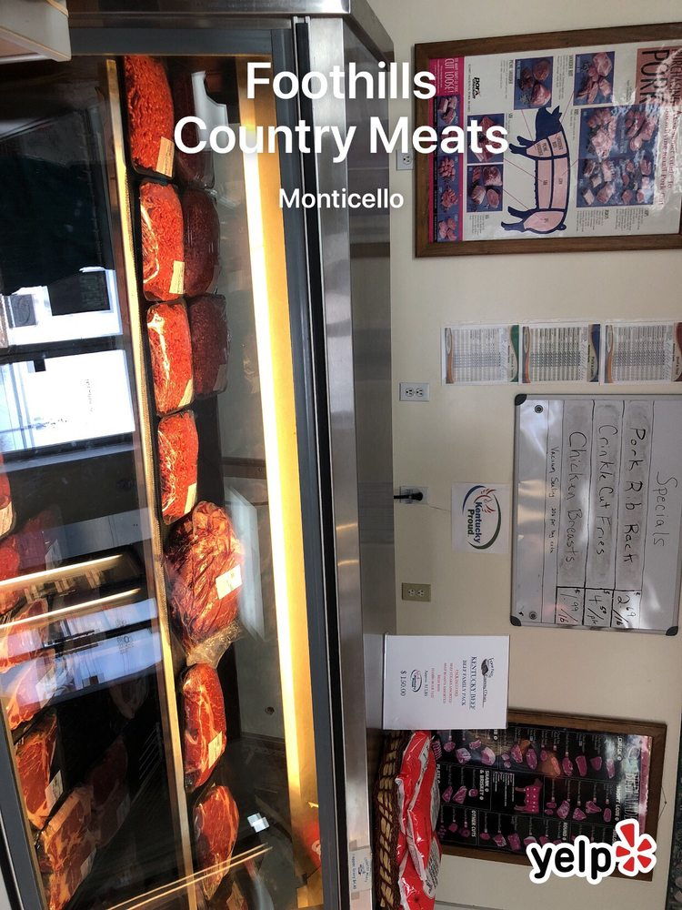 Foothills Country Meats: 4375 W Highway 90, Monticello, KY