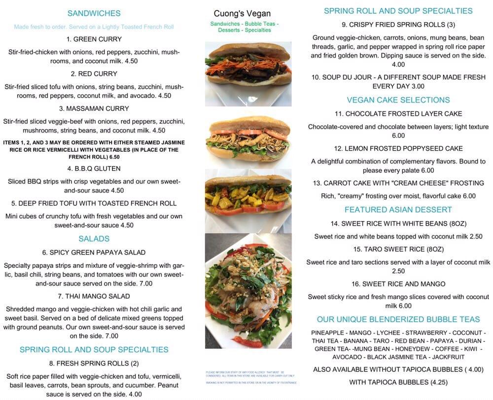 Tw Food Boston Menu