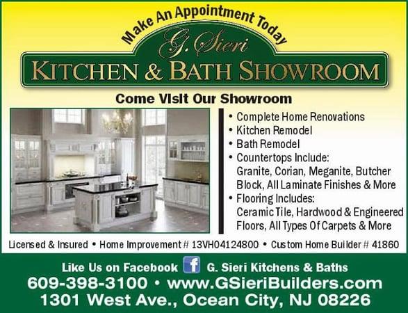 Bathroom Remodeling Ocean City Nj g. sieri builders - contractors - 1301 west ave, ocean city, nj