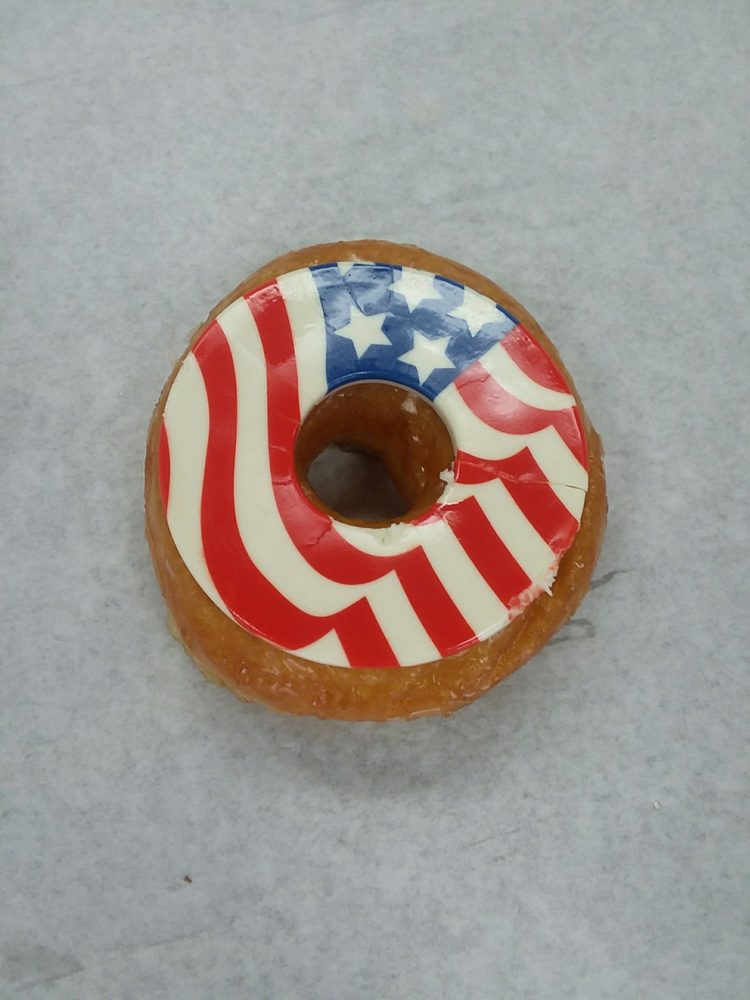 4th Of July Donut With A White Chocolate Icing Yelp