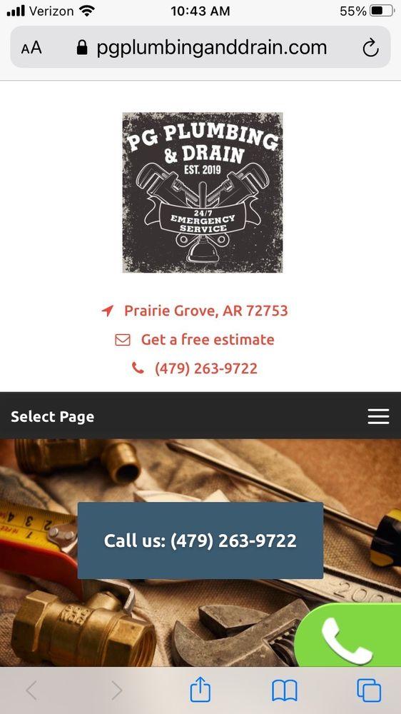PG Plumbing & Drain: 307 W Cleveland St, Prairie Grove, AR