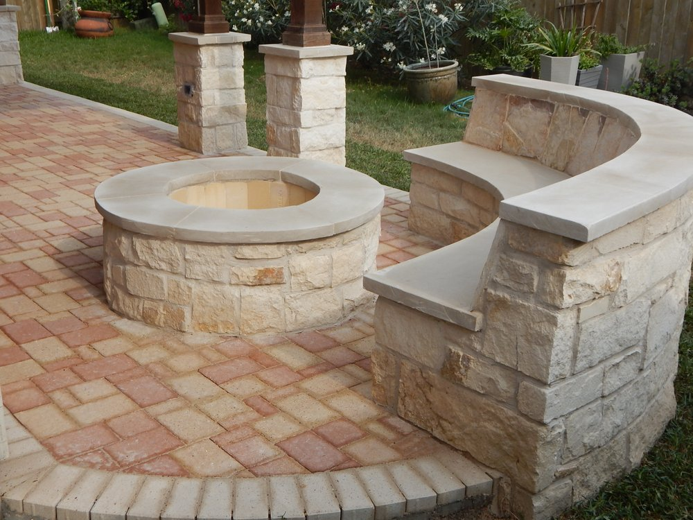 Limestone Bench Part - 33: Photo Of Rooms Without Walls - Houston, TX, United States. Milsap Concrete  Paver