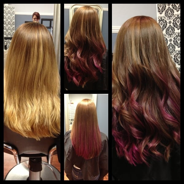 Beautiful Light Brown Hair Color With Hot Pink Ombre Fabulous