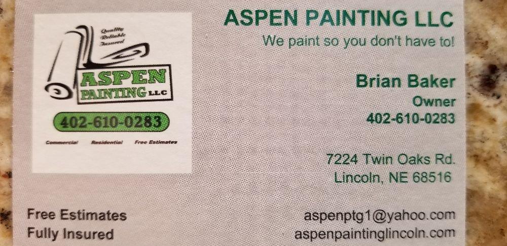 Aspen Painting: 7224 Twin Oaks Rd, Lincoln, NE