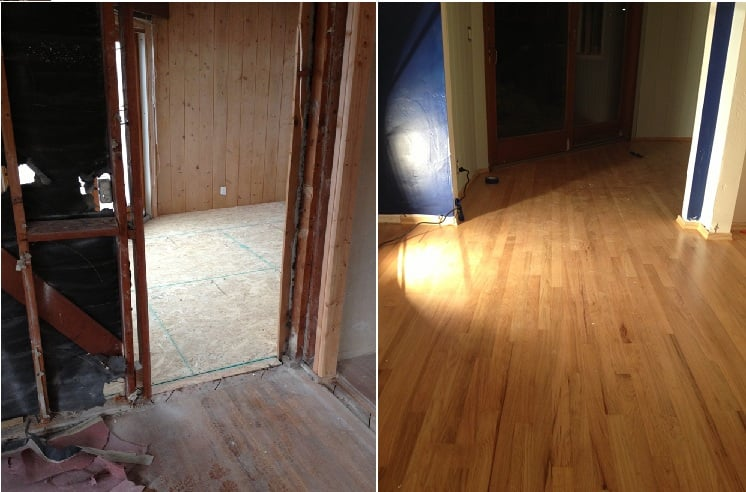 New Flooring Installed To Match Existing Refinished