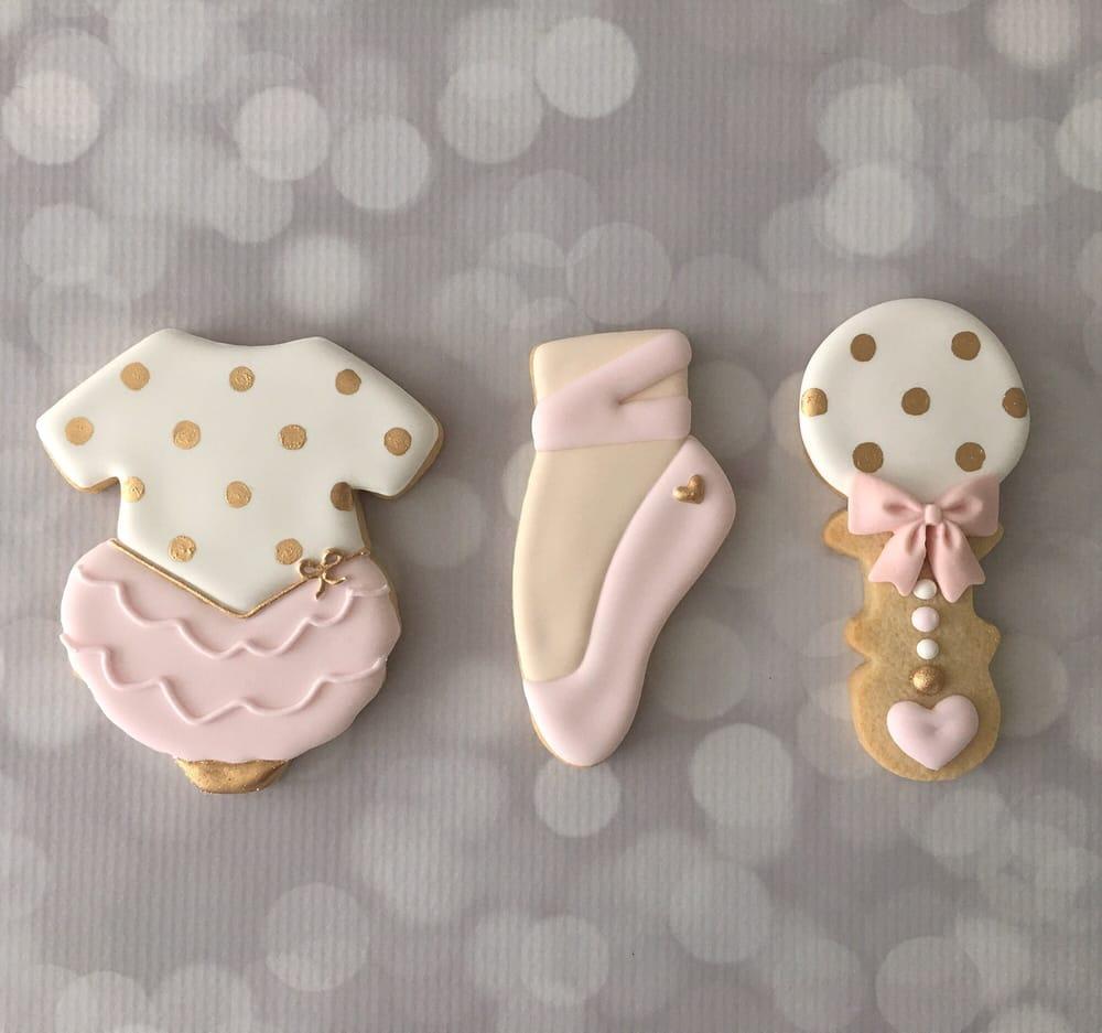 Ballerina Baby Shower Cookies