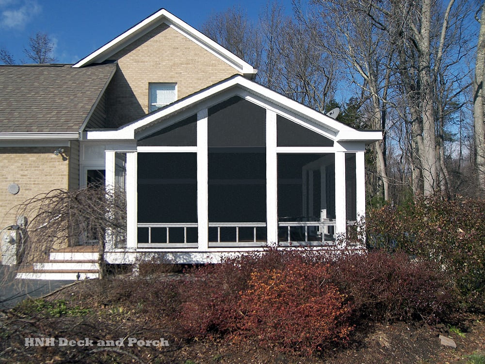 Low Maintenance Screened Porch With Quot A Quot Roof Yelp