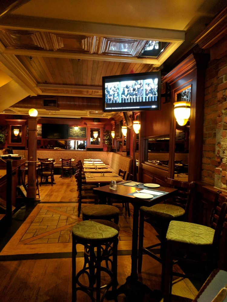 Comfy banquette seating available in the rear dining room - Yelp on