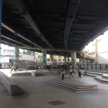 skate park under the bridge  in sf