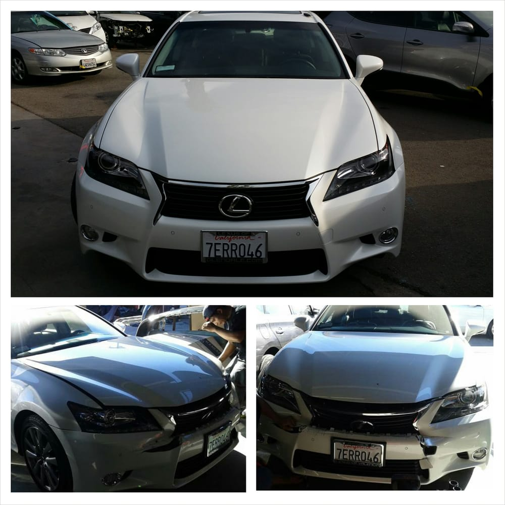 2014 Lexus Gs350: 2014 Lexus GS350 Front End Damage Before And After Repairs