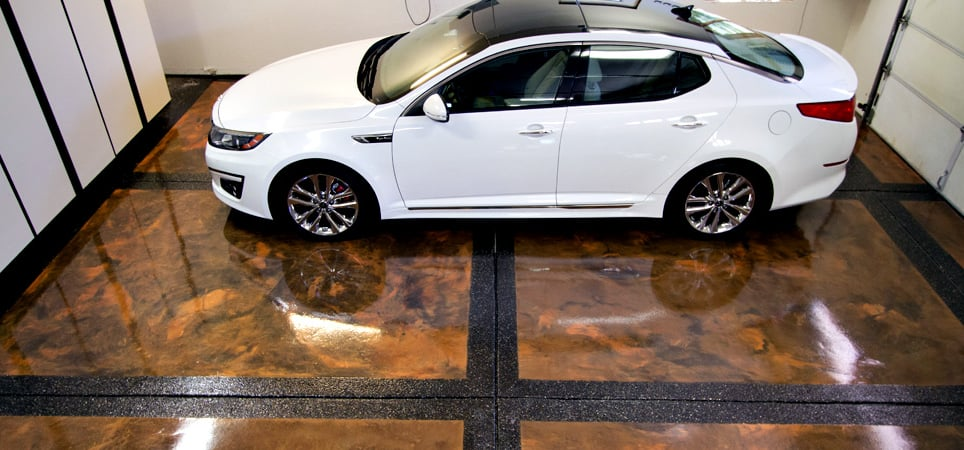 Image result for epoxy garage floor