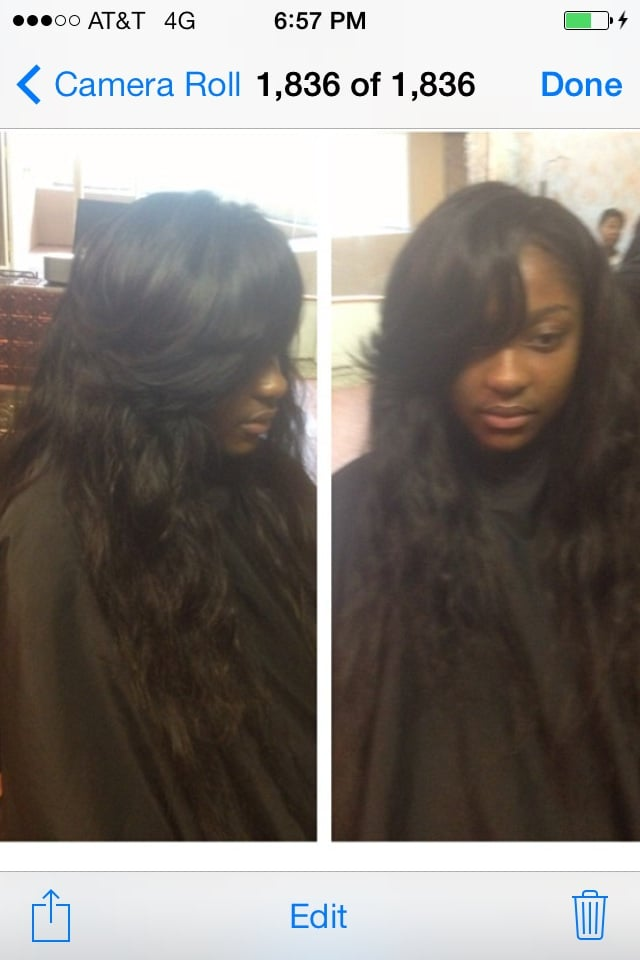Sew In Weave Wbrazillian Hair Side Part No Glue Yelp